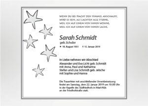 5 Sterne - Traueranzeige Motiv S-01